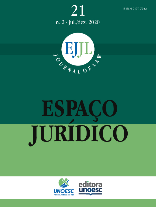 Visualizar v. 21 n. 2 (2020): Espaço Juridico Journal of Law [EJJL]